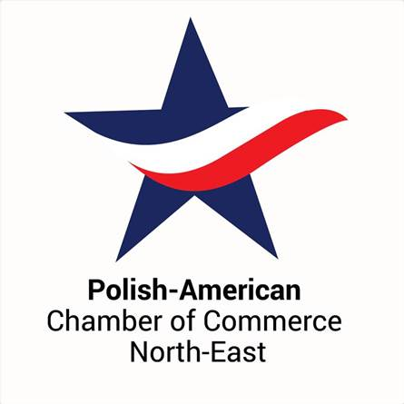 A logo for Polish-American Chamber of Commerce North-East