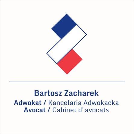 A logo for Law Firm Bartosz Zacharek – Polish-French